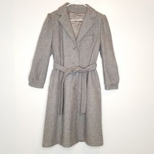 Vintage Fitted Wool Coat
